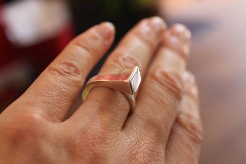 Lipizzan Ring, Silver Horseshoe Nail. Horseshoe Nail Ring. Solid Silver Ring. Un