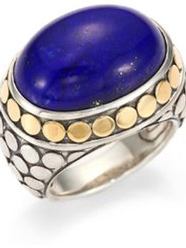 Lapis-Lazuli-18k-Yellow-Gold-Sterling-Silver-Dome-Ring