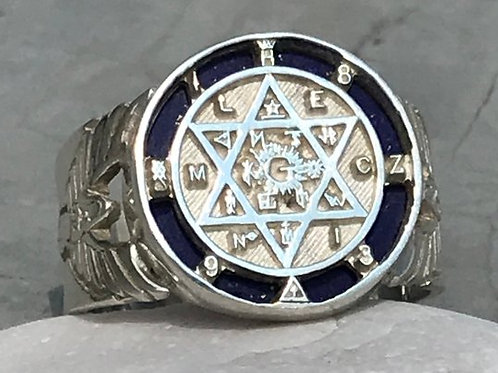 The King Solomon Lapislázuli Ring handmade Silver .925