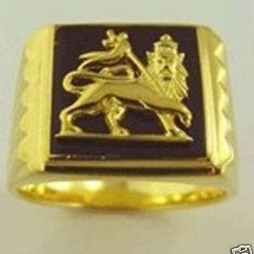 Lion of Judah Ring handmade Gold 10K
