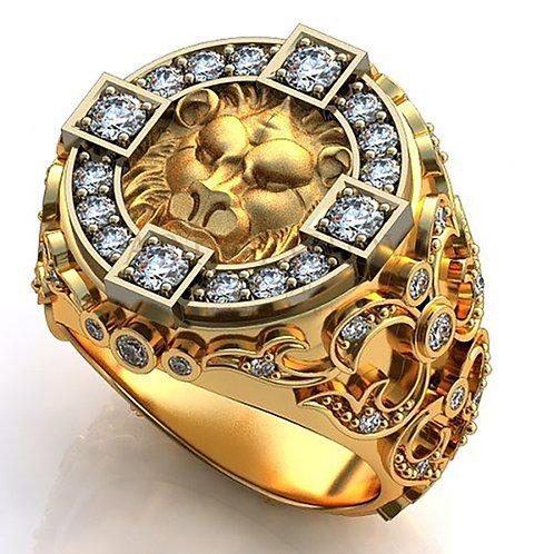 Heart of Lion Ring Gold 10K