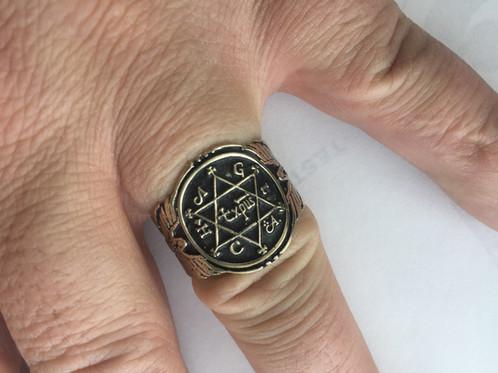 7 Metals King Solomon Ring Of Power | Solomon Ring ...