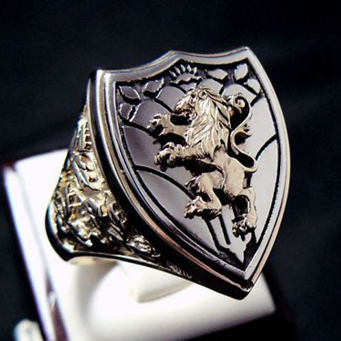 Lion of Judah Ring Empire handmade Silver .925