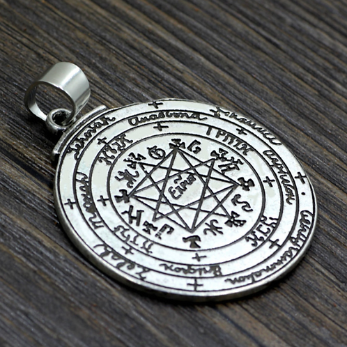 The Grand Pentacle of Solomon Pendant handmade Silver .925