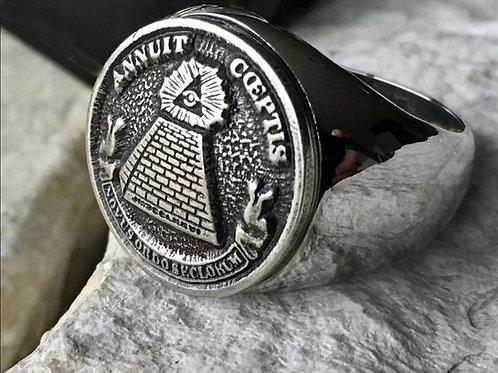 Ring Illuminati Seal handmade Silver .925