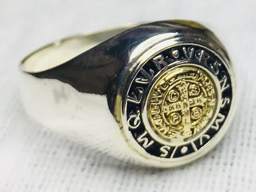 Saint Benedict Gold & Silver