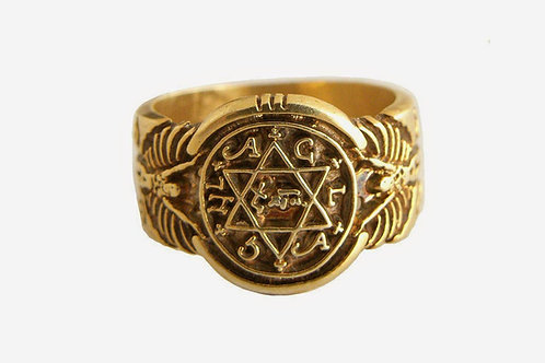King Solomon Ring Old Style Solid Gold 10K