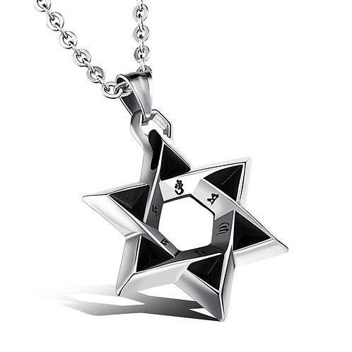 Mantra Star of Solomon handmade Silver .925
