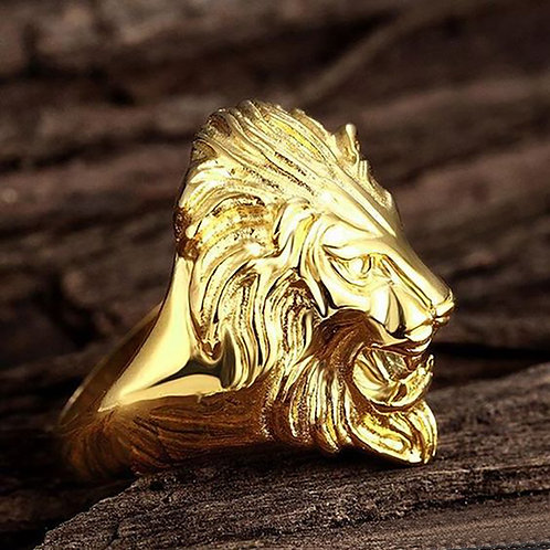 Heart of Lion 2 Ring Gold 10K
