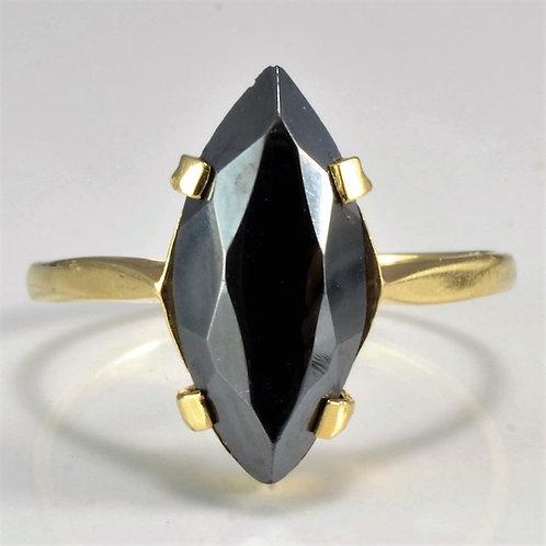Black Hematite Fine Handmade Gold 10K