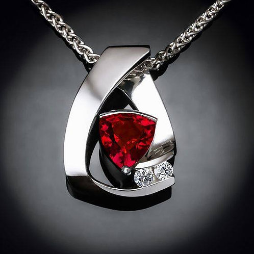 Red Emotion handmade Silver .925 with Granate stone