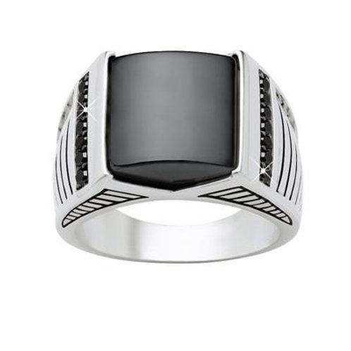 Hematite modern ring
