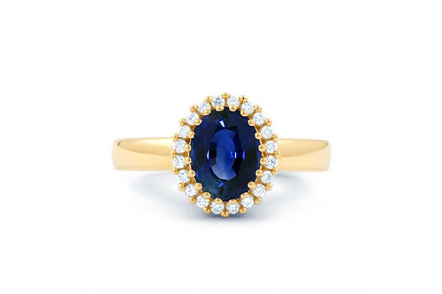 Engagement ring this blue sapphire engagement ring