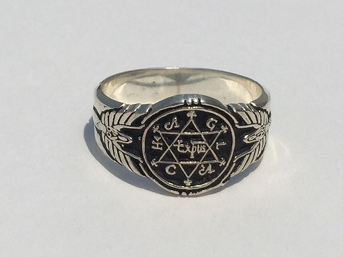 King Solomon Ring of Wisdom handmade Solid Silver .925 Handmade