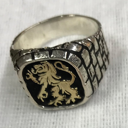 Lion Of Judah Ring Gold and Silver Hand Made