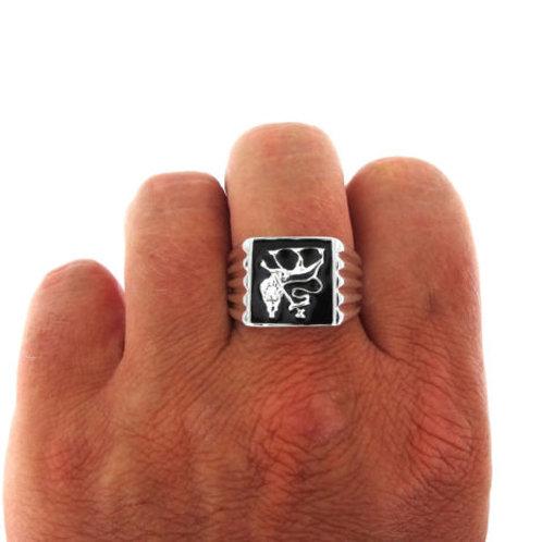 Lion of Judah Ring handmade Silver .925