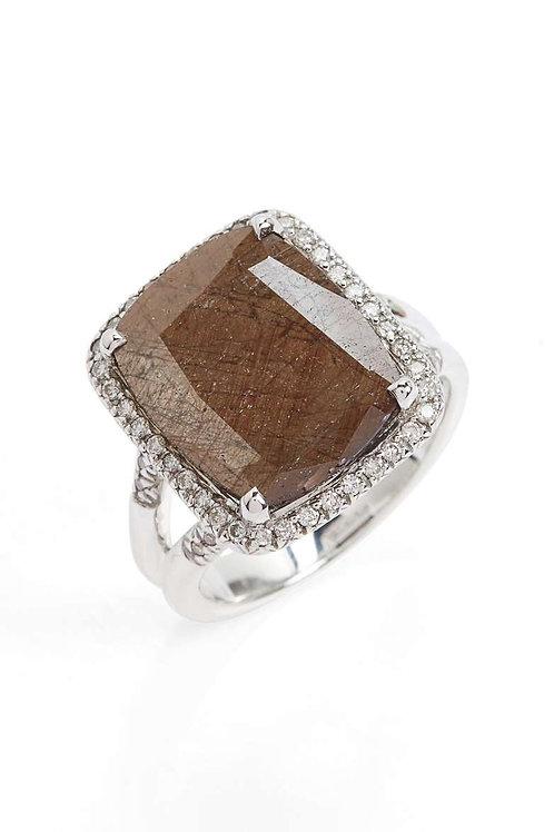 Classic Chain Gemstone Ring