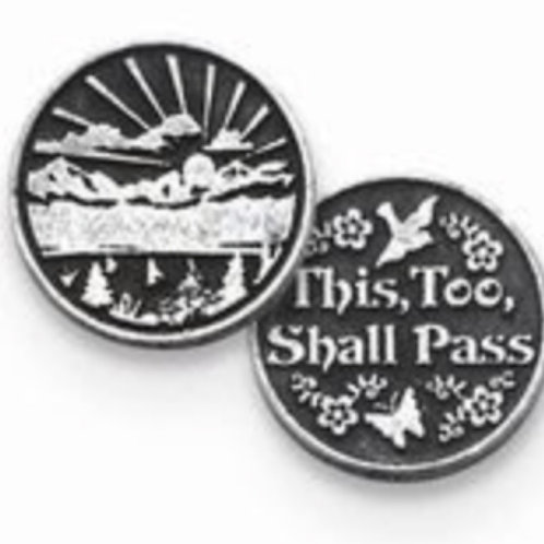 Silver This Too Shall Pass coin handmade Silver .925