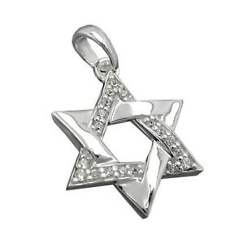Solomon Star handmade Silver .925 with Zircon stones