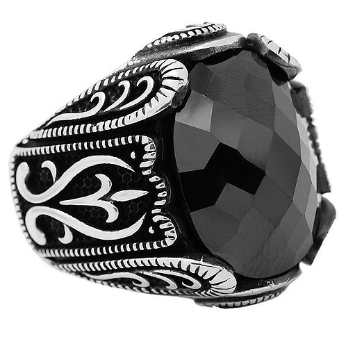 Ring Black Onix Protection handmade Silver .925 with Onyx Stone