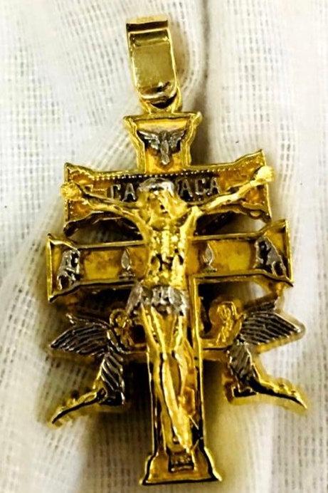 10K Caravaca cross handmade Gold 10K