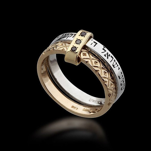 Solomon Ring Double Action Gold & Silver