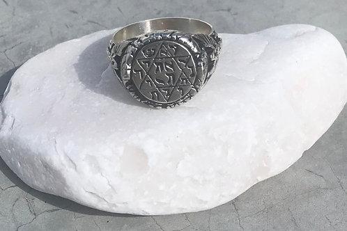 New Solomon Rey Hebrew letters Silver .925 handmade