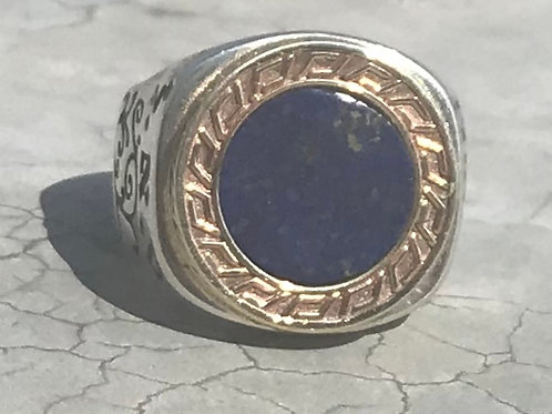 King Solomon Ring of wealth, abundance and health Gold & Silver with Lapislazuli