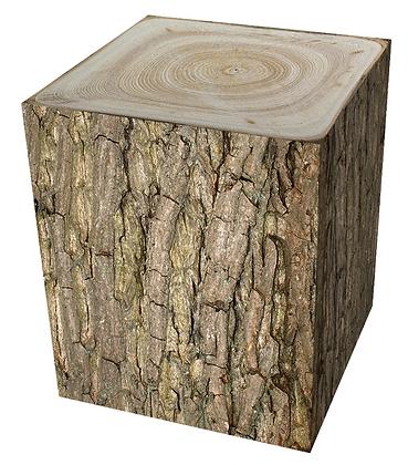 BENJ & SOTO Wood Cube Bark