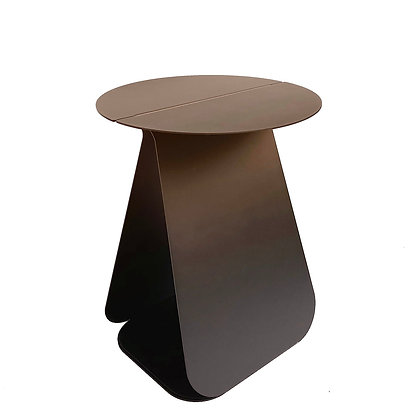 YOUMY Round Folded Steel Table by Mlle Jo