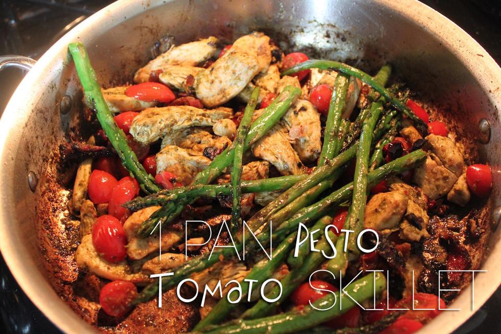 One Pan Pesto Tomato Chicken