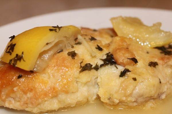 Chicken Romano with Lemon Butter Sauce