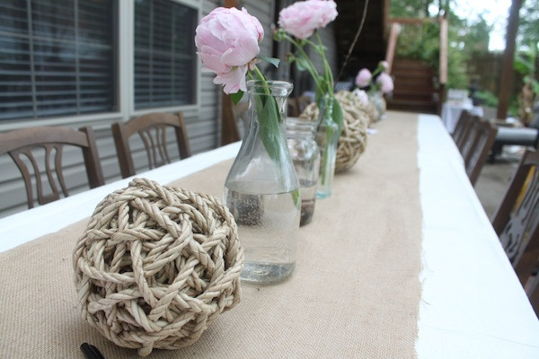 A Lovely Backyard Wedding Reception
