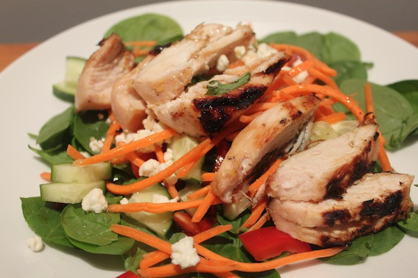 Honey Lemon Grilled Chicken Salad with Homemade Dressing