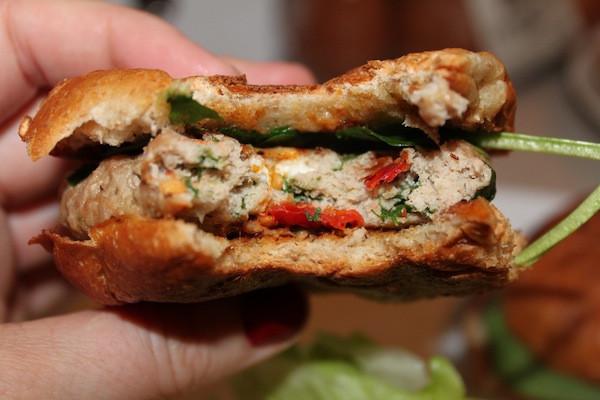Feta Sun-Dried Tomato Turkey Burger Sliders