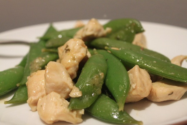 Garlic Chicken and Snap Pea Skillet