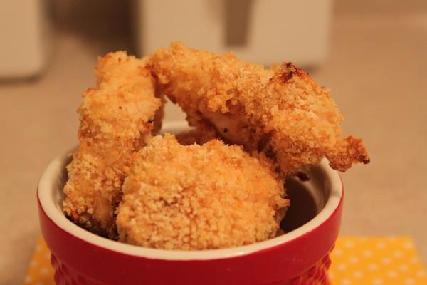 Crunchy Asiago Chicken Nuggets