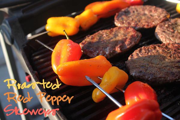 Roasted Red Pepper Skewers