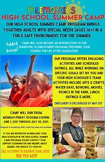 Adult Summer Program flyer