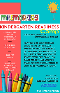 Kindergarten readiness flyer