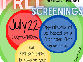 FREE Physical Therapy Screenings