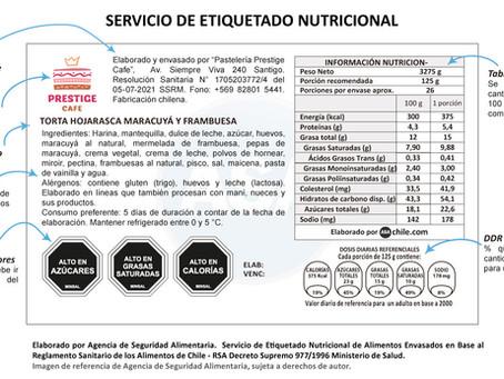 SERVICIO DE ETIQUETADO NUTRICIONAL DE ALIMENTOS