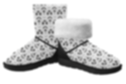 aced butterfly single button snow boots.