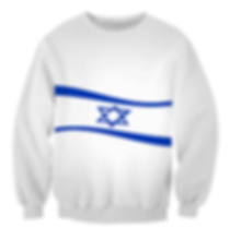 jewish waving star sweatshirt.png