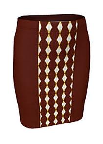 african cream diamond middle skirt.jpg