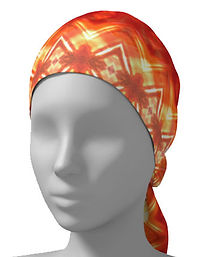 orange diamond flower head wrap scarf.jp