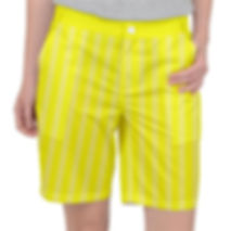 Brite Yellow Faded White V Lines Pocket