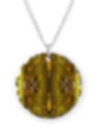 glitter byzantine necklace circle charm.