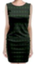 green glass kaleidoscope sleeveless velv