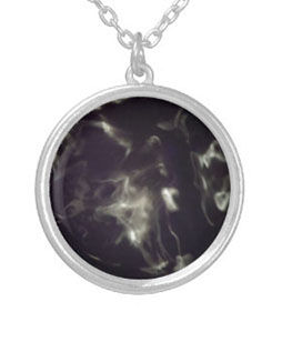 purple_smoke_globe_silver_round_necklace